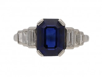 art deco sapphire diamond ring hatton garden berganza