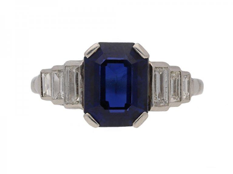 art deco sapphire diamond ring hatton garden berganza