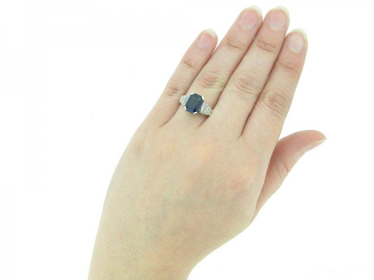 back art deco sapphire diamond ring hatton garden berganza