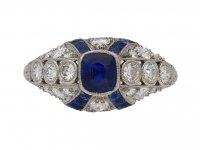 art deco diamond sapphire ring hatton garden berganza