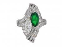 J. E. Caldwell emerald and diamond ring berganza hatton garden