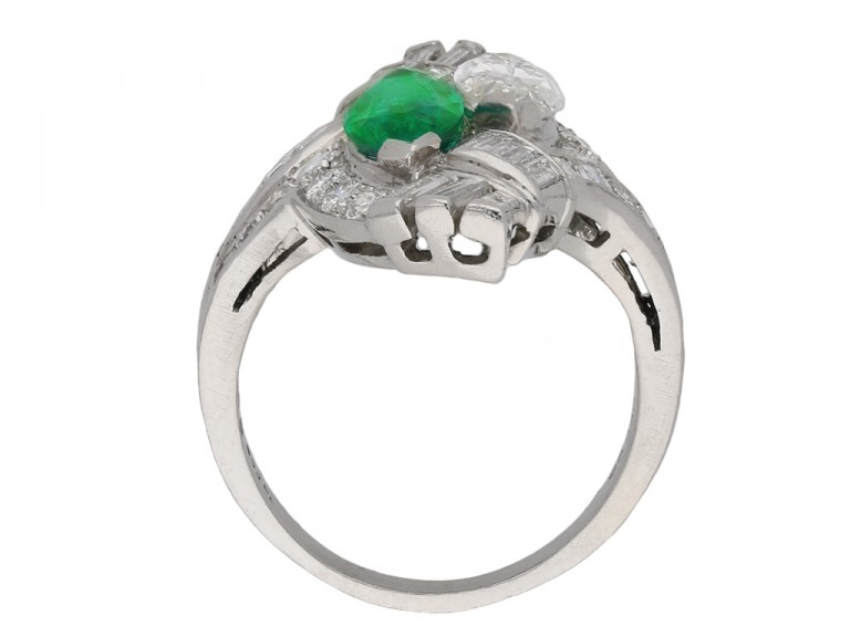 J. E. Caldwell emerald and diamond ring berganza hatton garden