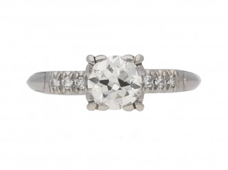 vintage diamond engagementl ring berganza hatton garden