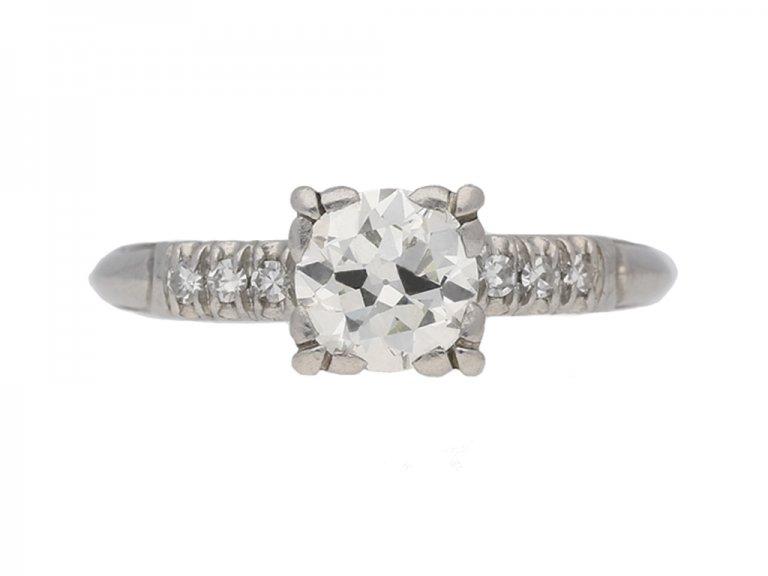 vintage diamond engagementl ring berganza hatton garden