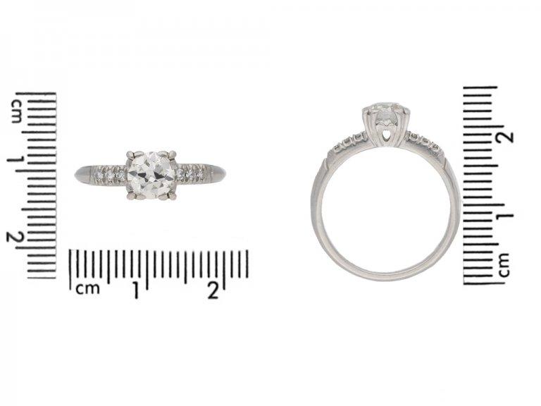 size view vintage diamond engagementl ring berganza hatton garden