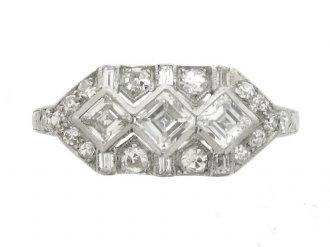 front view Ornate diamond ring, circa 1930.