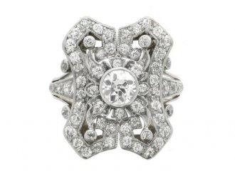 Antique diamond cluster ring, circa 1910. berganza hatton garden