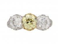 antique yellow diamond ring hatton garden berganza