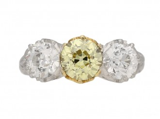 antique yellow diamond ring hatton garden berganza