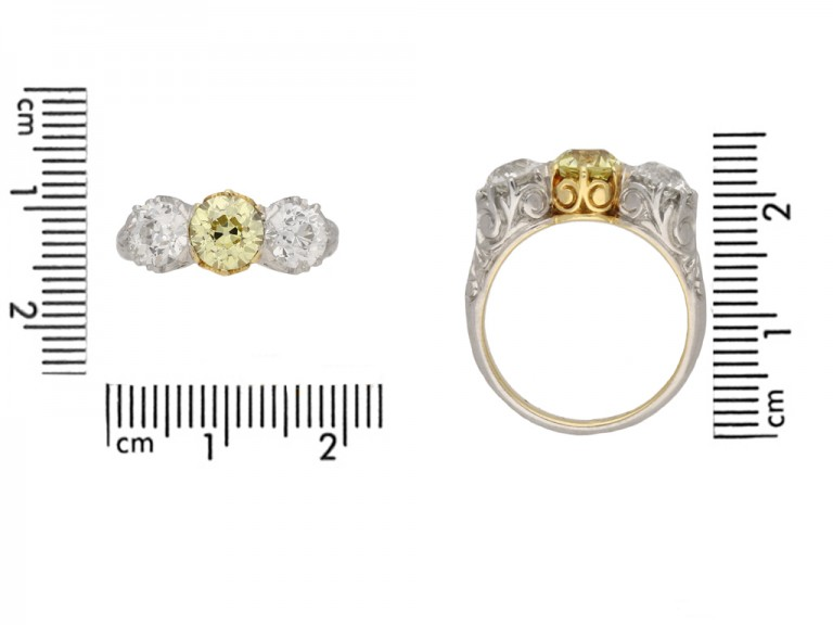 front antique yellow diamond ring hatton garden berganza