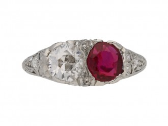 antique diamond ruby ring hatton garden berganza