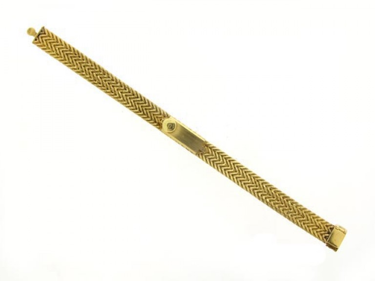 Yellow gold wrist watch by Hermes circa 1950