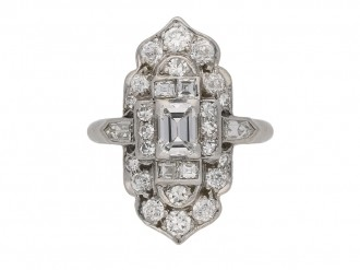 hand art deco diamond cluster ring berganza hatton garden