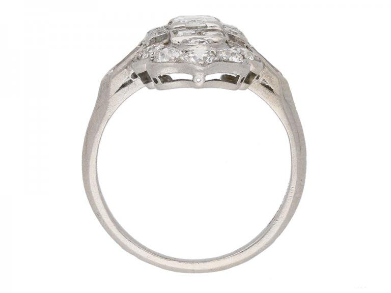 back art deco diamond cluster ring berganza hatton garden