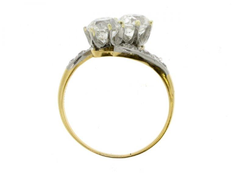 back view Diamond crossover ring, circa 1905.