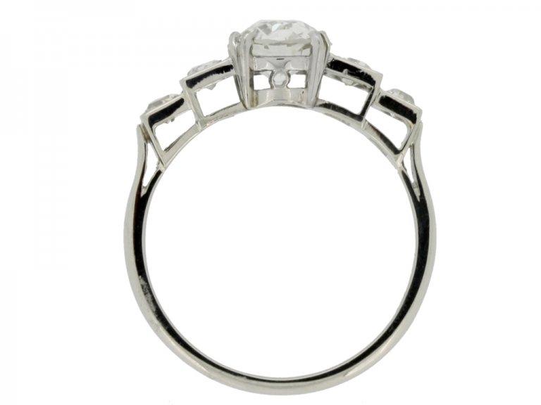 back view Art Deco diamond ring, circa 1930.