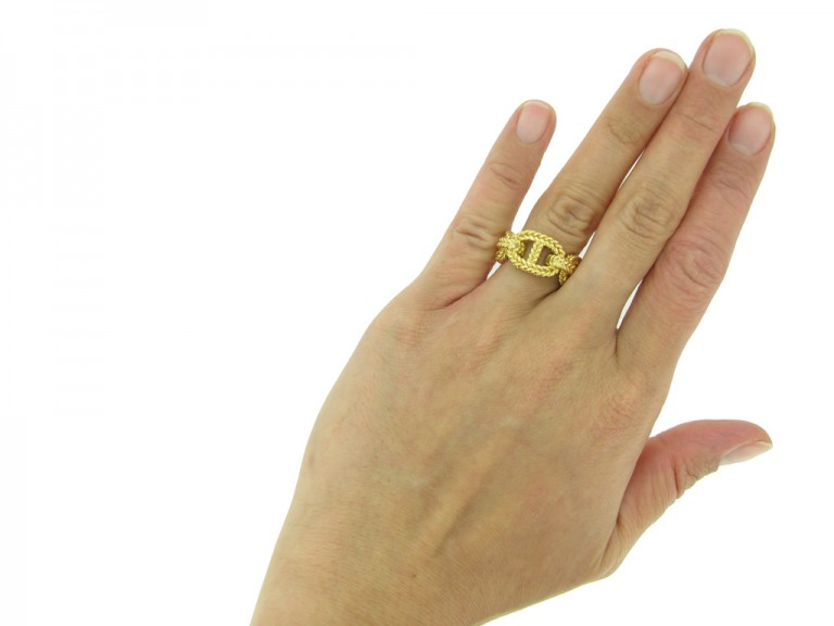 Hermes 18 carat yellow gold ring berganza hatton garden