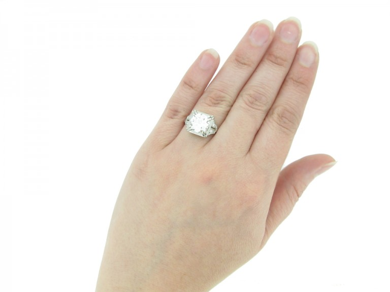 front art deco engagement diamond ring hatton garden berganza