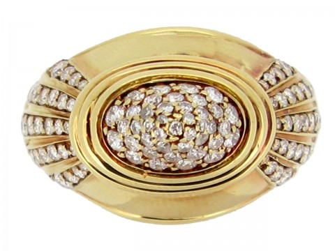 front view Boucheron diamond dress ring, circa 1988.