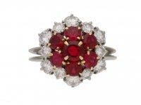 Boucheron ruby diamond coronet ring berganza hatton garden