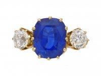 Ceylon sapphire diamond ring berganza hatton garden