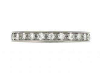 front view Diamond set eternity ring, circa 1950.