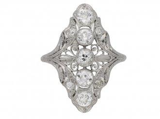 antique diamond ornate ring berganza hatton garden