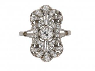 antique diamond cluster ring berganza hatton garden berganza