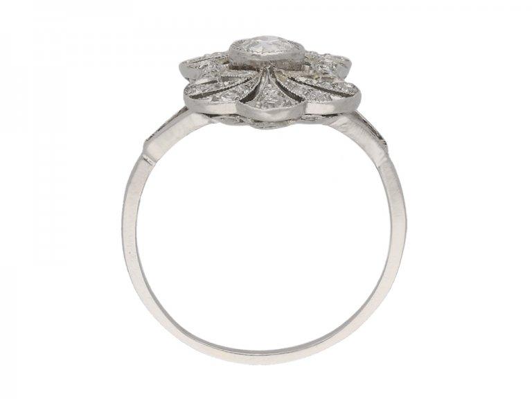 front antique diamond cluster ring berganza hatton garden berganza