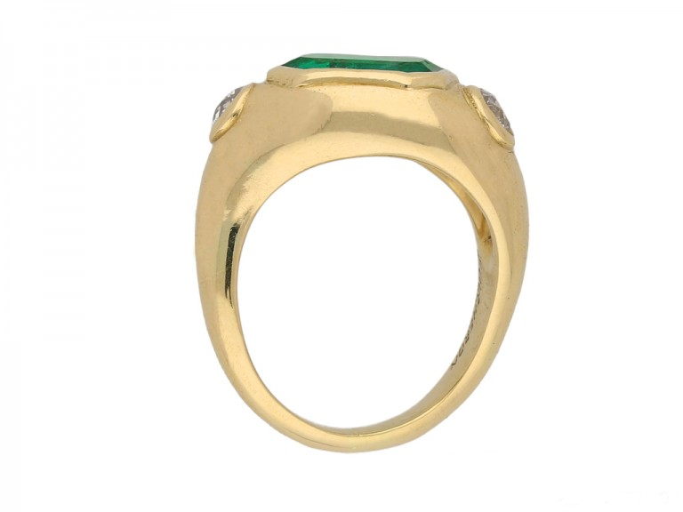 back Boucheron emerald diamond ring berganza hatton garden