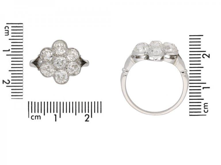 antique diamond coronet cluster ring berganza hatton garden