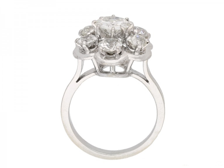 Diamond coronet cluster ring hatton garden berganza
