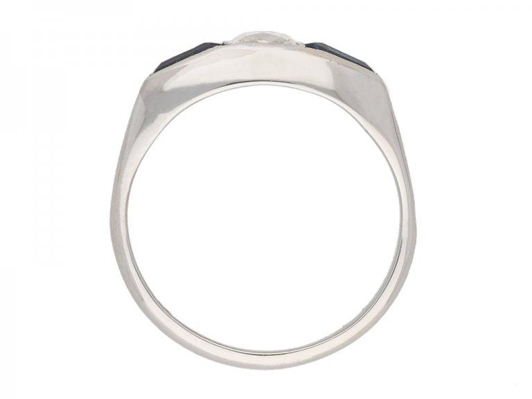 front art deco sapphire diamond ring berganza hatton garden