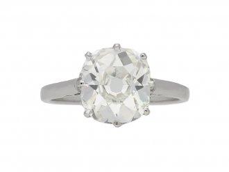Solitaire old mine diamond ring hatton garden berganza