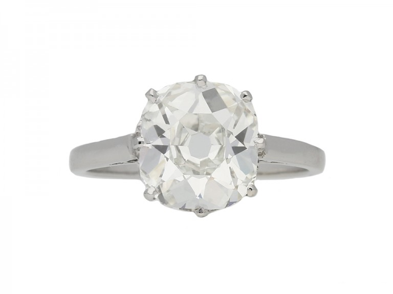 Solitaire old mine diamond ring hatton garden berganza