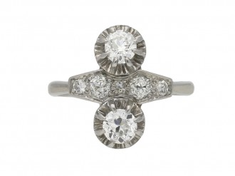 Two stone diamond ring, French berganza hatton garden