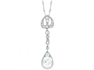 Diamond pendant, French berganza hatton garden