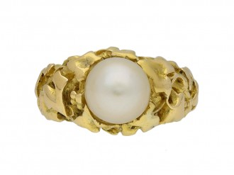 Wiese solitaire natural pearl ring berganza hatton garden