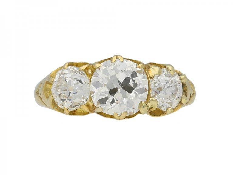 three stone diamond ring berganza hatton garden