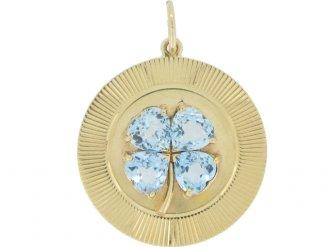 front view Tiffany & Co. aquamarine pendant, circa 1957.