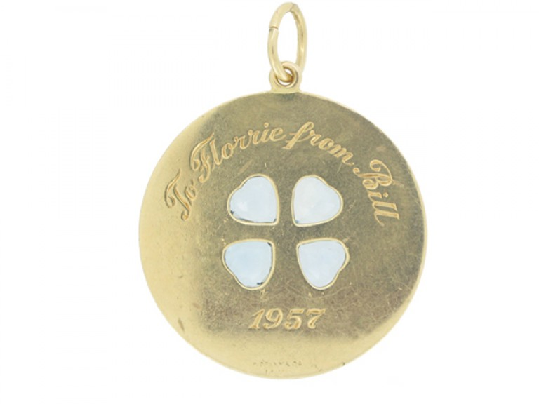 front view Tiffany & Co. aquamarine pendant