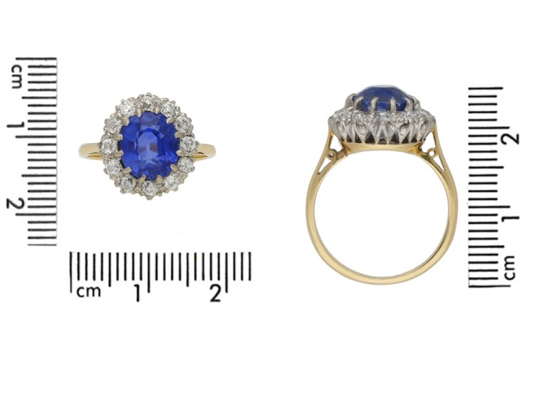 antique sapphire diamond cluster ring hatton garden berganza