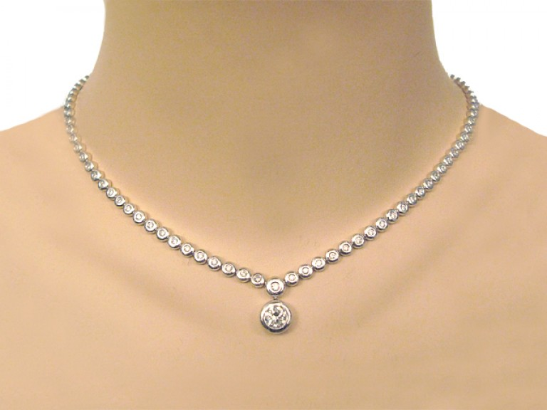 Diamond necklace, berganza hatton garden