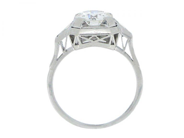 back view Art Deco diamond ring, circa 1935.