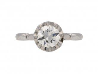 front antique diamond engagement ring hatton garden berganza