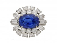 front Cartier sapphire diamond ring berganza hatton garden
