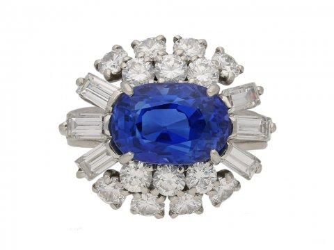 front Cartier sapphire diamond ring berganza hatton garden