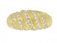 front view Cartier vintage diamond ring, French, circa 1960.