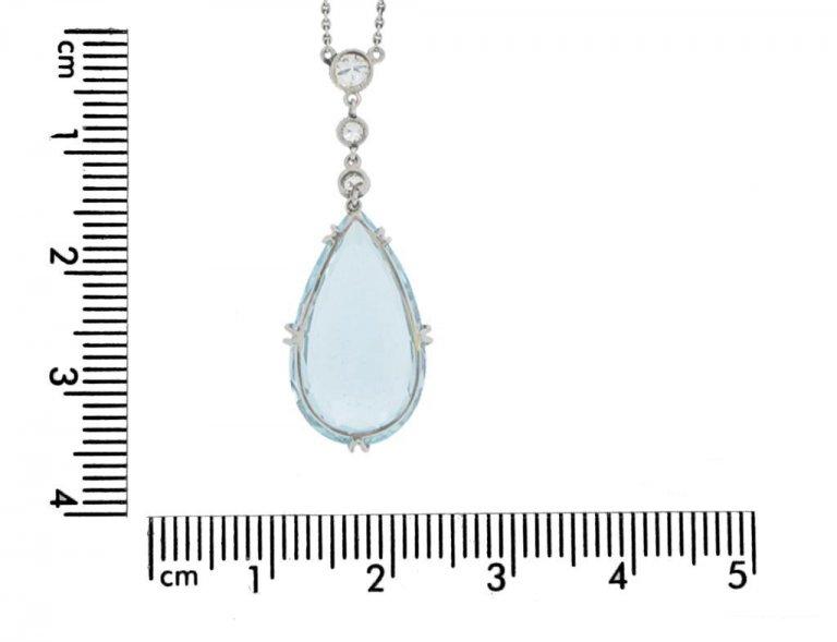 antique aquamarine diamond pendant berganza hatton garden