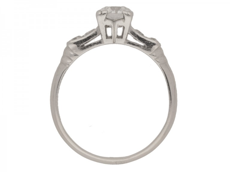 back view Diamond ring, American, circa 1935.